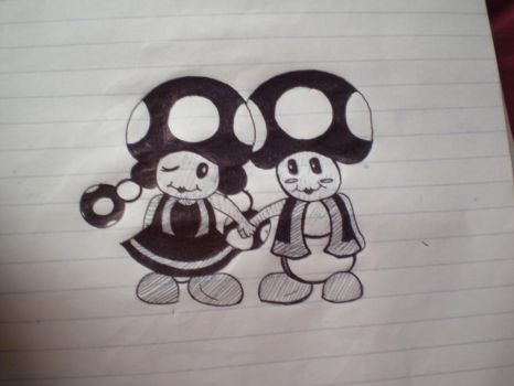 Toad and Toadette by melissaxanne