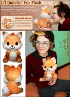 Doki Fox Plush by celesse