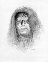 Emperor Palpatine Star Wars Drawing by Stungeon