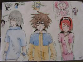 KH-Naruto Crossover COLORED :O by Suky-Chan