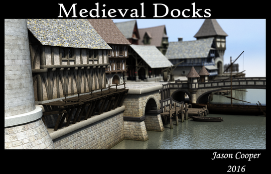 Medieval Docks by muddychickn