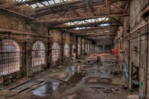 Fabrikhalle HDR by trewertz