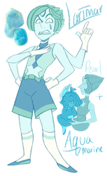 FT - (Aquamarine/Pearl) Larimar by TheZodiacLord