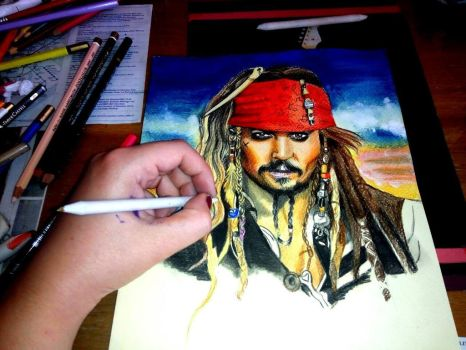 WIP Pirates of Carribean Drawing by ZuzanaGyarfasova