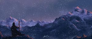 Snow Mountains by AmineCH