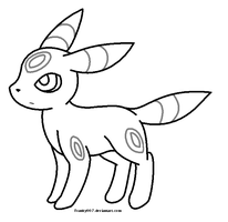 Umbreon Template by franky007