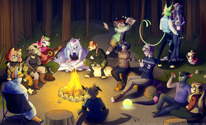 pmmm | sittin' round the campfire by Delayni