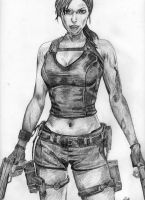Lara Croft by lloveandsqualor