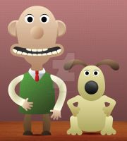Kawaii Wallace and Gromit by WillZMarler
