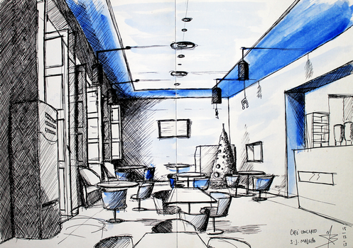 2Sketch 03 (Cafe Concerto) by docthedog