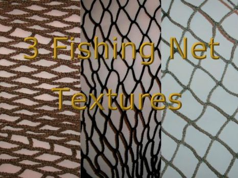 3 Fishing Net Textures by Rubyfire14-Stock