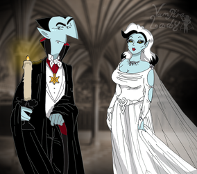 Dracula and his wife by VampiraLady