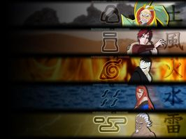 The Five Kages - Wallpaper by crz4all