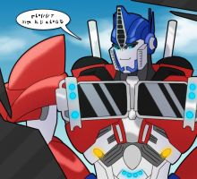 Optimus ::Hello my friend:: by Lumen-Terra