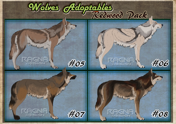 wolf adoptables pack #2    Redwood Pack Closed by RagnaDesign