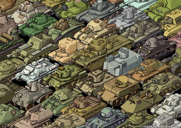 Isometric Tanks Collage by rbl3d