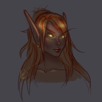 A Blood Elf version of Feaiye by VixenNymph