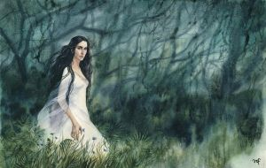 White lady of the Noldor by Filat