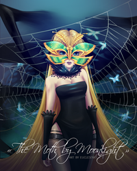 [Euclesiart] Trinity, the Moth by Moonlight by EuclesiArt