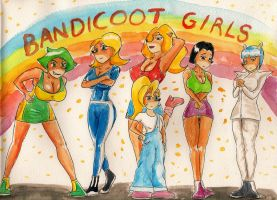 Bandicoot Girls by SoulEaterSaku90