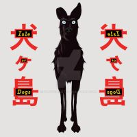 Isle of dogs of Wes Anderson by FanwenArt