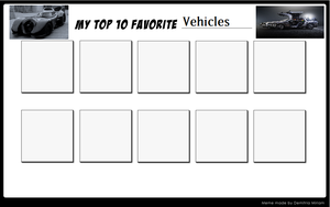 Top 10 Vehicles Meme by MarioFanProductions