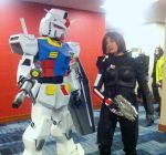 Commander Shepard - Mass Effect 3 with a GUNDAM by Quartknee