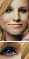 Kristen Bell painting by perlaque