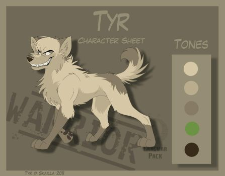 Tyr - Character Sheet by Skailla