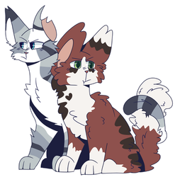 Ivypool and Blossomfall by FluffyPawHeart