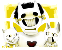 Art Trade: Zacharie Loves Cats [Painted] by PC-Doodle