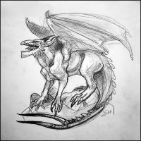 Concept Sketch: Forktail Dragon by TheUrbanFox