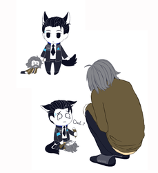 Connor and plush Hank! by yavhan