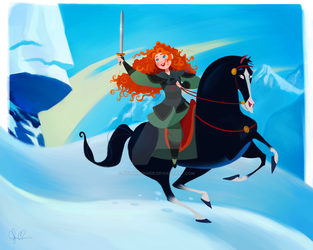 Merida in Mulan's World by DylanBonner