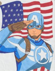 AvAc Captain America - Colored by SheiBKroeker