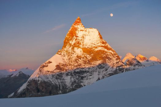 Matterhorn West Face at Sunset by RobertoBertero
