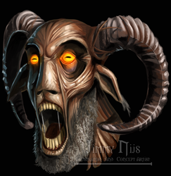 Commission Darkness Prevails - Goat Man by JimmyNijs