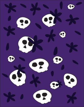 Skulls And Flowers Pattern by sydneypie
