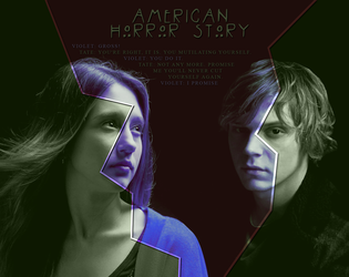 Tate and Violet, American Horror Story | 1700x1350 by Iodicodino