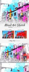 Mixed Art - Sketch Painting Photoshop Action by Kluzya