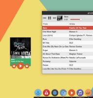 layout Flat-minigmp for gmusicbrowser by zayronXIO