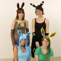 eevee, umbreon, glaceon and leafeon - cosplay by Ryushiori