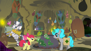 MLP : Tara learn about herbs for Zecora by knightnew