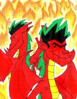 American Dragon. New and Old. by ghostlygirl1000