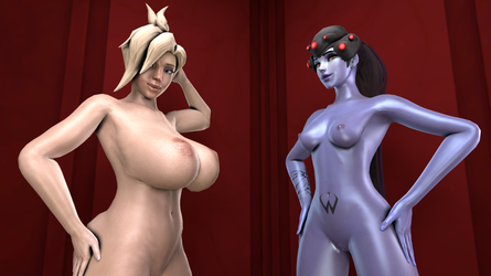 Mercy and Widowmaker by CasualMuffin