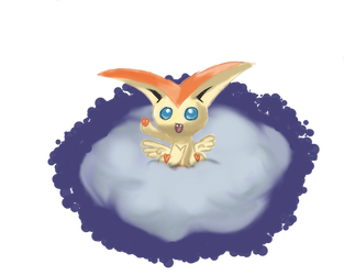 Victini's Victory by ElliEspy