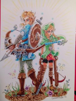 Link and Linkle by rilideja