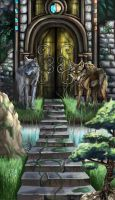 Wolf Gate by InkFey