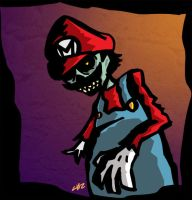 SUPER MARIO ZOMBIE by CHIZZZ