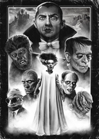 Universal Monsters by SamRAW08